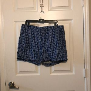 Blue patterned shorts